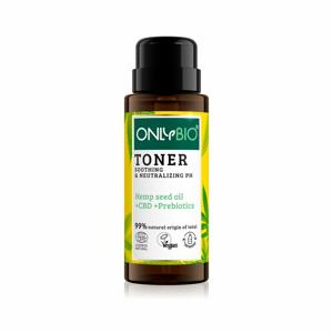 OnlyBio Zklidňující tonikum pro citlivou pleť s konopím a CBD olejem (300 ml)