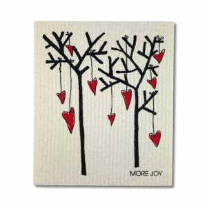 More Joy Pratelná univerzální utěrka - Stromy a srdce 100% kompostovatelná