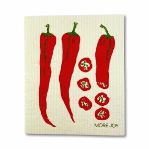 More Joy Pratelná univerzální utěrka - Chili 100% kompostovatelná