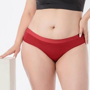 Pinke Welle Menstruační kalhotky Bikiny červené - slabá a střední menstruace (S)