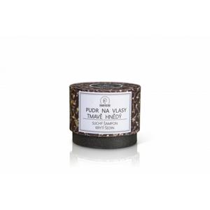 Haaro Naturo Pudr na vlasy - tmavě hnědý (60 g) suchý šampon, kryje šediny