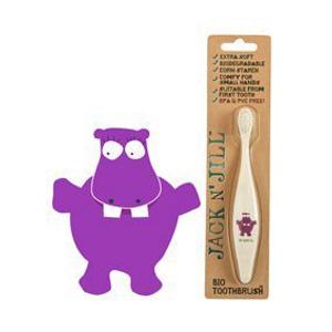 Jack n' Jill Dětský zubní kartáček Hrošík z kukuřičného škrobu