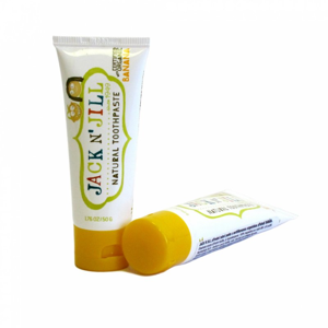 Jack n' Jill Dětská zubní pasta - banán BIO (50 g) bez fluoru, s bio extraktem z měsíčku