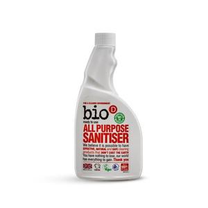 Bio-D Univerzální čistič s dezinfekcí (500 ml) - náhradní náplň s pomerančovým olejem