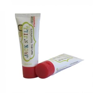 Jack n' Jill Dětská zubní pasta - jahoda BIO (50 g) bez fluoru, s bio extraktem z měsíčku