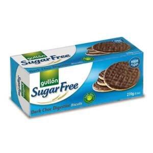 Gullón Dark Choc digestive biscuits oplatky bez cukru s čokoládou 270  g