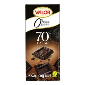 VALOR Čokoláda bez cukru, lepku hořká 70% 100 g