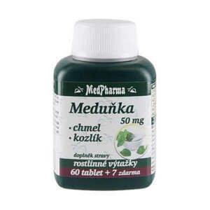 MedPharma Meduňka 50 mg+chmel+kozlík 67 tablet