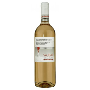 Vajbar Rulandské šedé jakostní víno s přívlastkem, pozdní sběr 2017 polosladké 0,75 l
