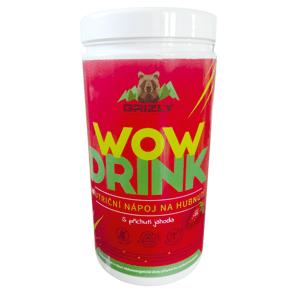 GRIZLY Wow Drink - Nutriční nápoj na hubnutí jahodový 500 g
