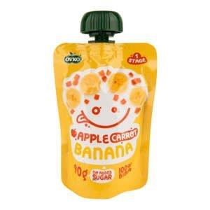 OVKO příkrm jablko, mrkev, banán 90 g BIO