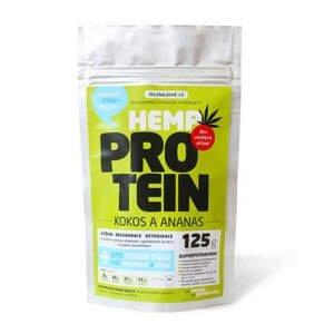 Zelená země Konopný protein - kokos s ananasem 125 g