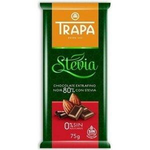 Trapa Čokoláda hořká 80 % kakaa STEVIA 75 g