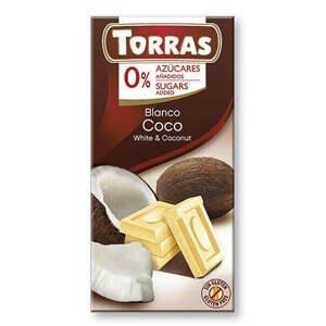 Torras Bílá čokoláda s kokosem 75 g