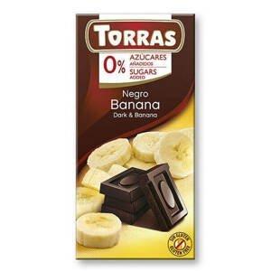 Torras Hořká čokoláda s banánem 75 g