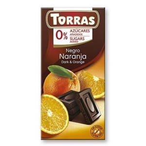 Torras Hořká čokoláda s pomerančem 75 g