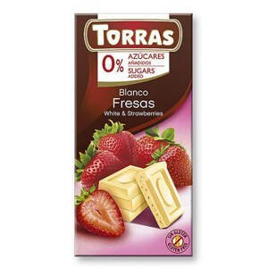Torras Bílá čokoláda s jahodami 75 g