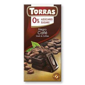 Torras Hořká čokoláda s kávou 75 g