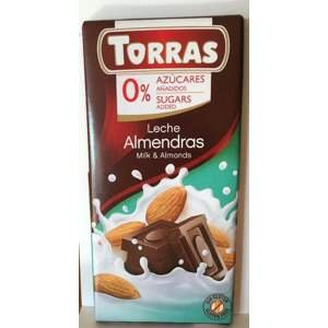 Torras mléčná čokoláda s mandlemi 75 g