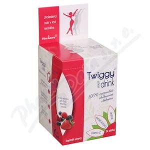 Vitasmart Twiggy glukoman + skoř. + vit C nápoj lesní směs 24 sáčků