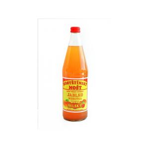 Moštárna Hostětín mošt jablko meruňka SELSKÝ 0,75 l