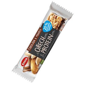 Emco Tyčinka s ořechem proteinem - Čokoláda a mandle 40 g