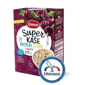 Emco Super kaše Protein a chia s višněmi 3x55 g