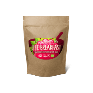 Lifefood Life Breakfast Kaše malinovo-makadamiová s proteinem BIO RAW 240 g