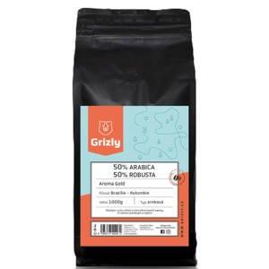 GRIZLY Zrnková káva 50/50 Aroma Gold 1000 g