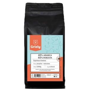 GRIZLY Zrnková káva 40/60 Espresso Classico 1000 g
