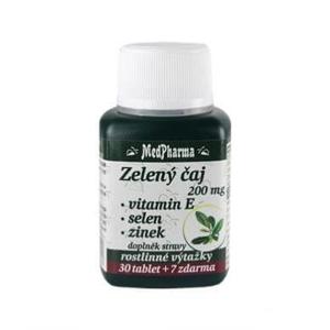MedPharma Zelený čaj + vit E + zinek + selen 37 tab expirace