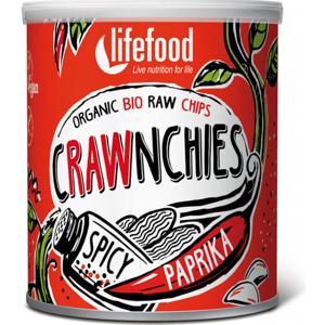 Lifefood Crawnchies pikantní s paprikou RAW a BIO 30 g