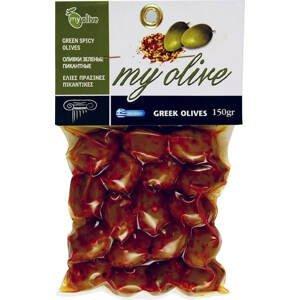 my olive Zelené olivy marinované s chilli papričkou 250 g