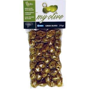 my olive Zelené olivy marinované oreganem 250 g