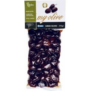 my olive Přírodní černé olivy s peckou 250 g