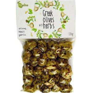 my olive Marinované olivy česnekem a bazalkou 220 g