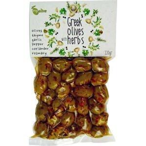 my olive Marinované olivy česnek a koření 220 g