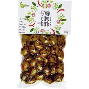 my olive Marinované olivy česnek, vavřín, chilli, cibule, koření 220 g