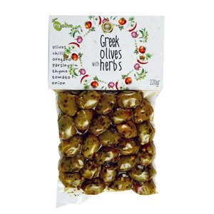 my olive Marinované olivy s bylinami a rajčaty 220 g