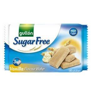 Gullón Vanilla waffer oplatky s vanilkovou příchutí bez cukru 180 g