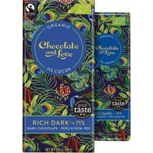 Chocolate and Love Rich Dark 71 % BIO 80 g