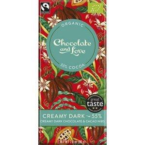 Chocolate and Love Creamy Dark 55 % BIO 80 g