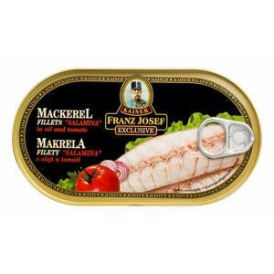 Franz Josef Kaiser Makrela filety Salamina v oleji a tomatě 170 g