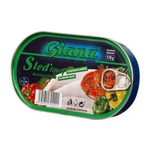 Giana Sleď filety v paprikové omáčce 170 g