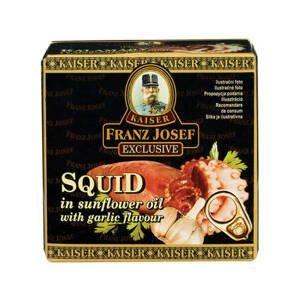 Franz Josef Kaiser Kalamáry ve slunečnicovém oleji s česnekovou příchutí 80 g