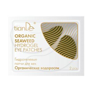 TianDe Hydrogelové polštářky na oční víčka Organické vodní řasy 2 ks