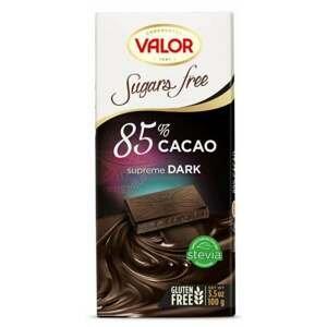 Valor Čokoláda bez cukru 85 % 100 g