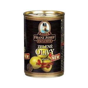Franz Josef Kaiser Olivy zelené plněné papričkou 300 g