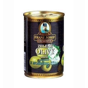 Franz Josef Kaiser Olivy zelené plněné modrým sýrem 300 g