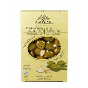 Olives Earth Zelené olivy s česnekem 200 g